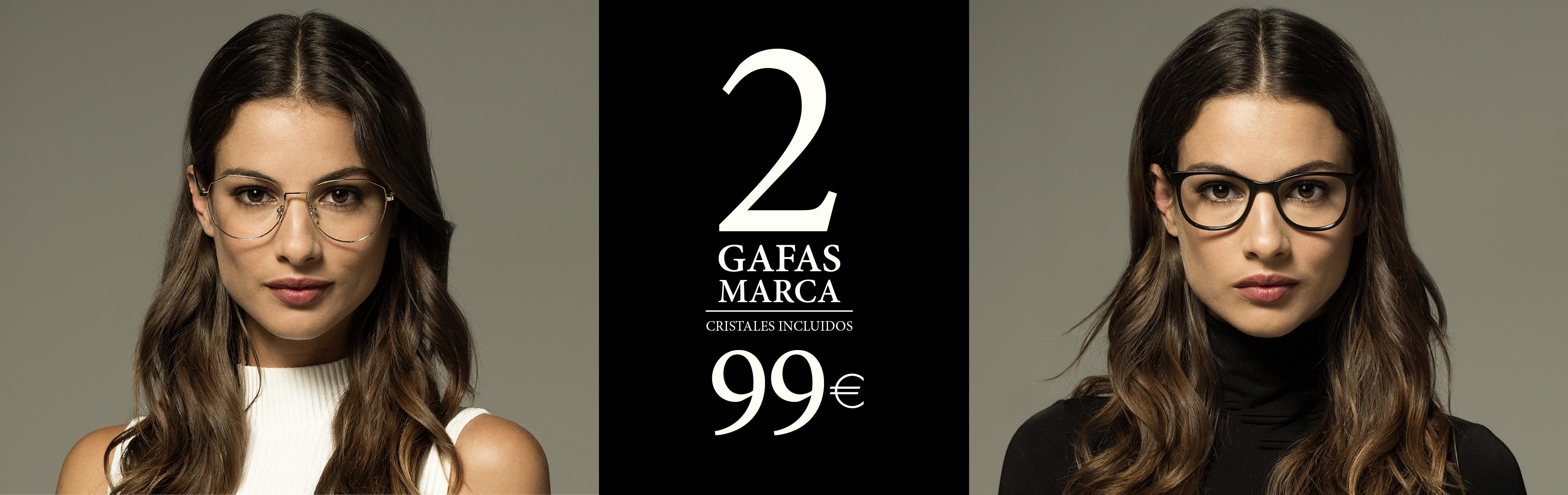 2 gafas de marca por 99€